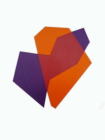 Color/Shape Study (Violet/Orange)