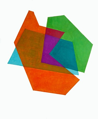 Cosenza Color/shape Study Orange/Green/Teal