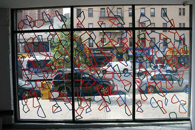 Window drawing, chashama 1351, NYC