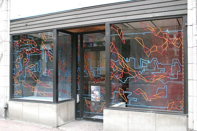 Window drawing, Future Tenant Gallery, Pittsburgh, PA