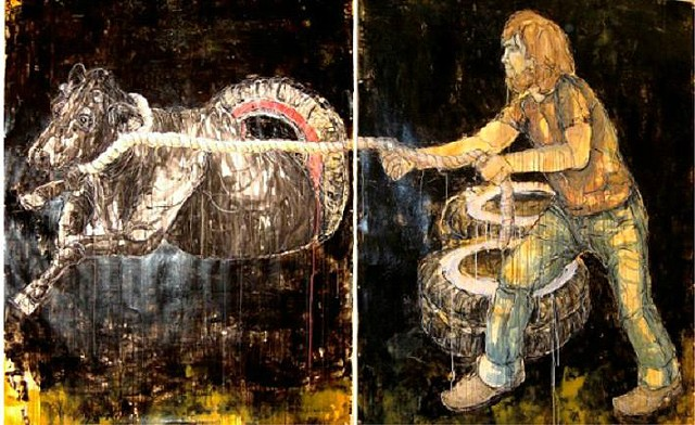 """Impulsiveness of Youth, Diptych  """"Bewilderment"""" - Senior Drawing Thesis"""