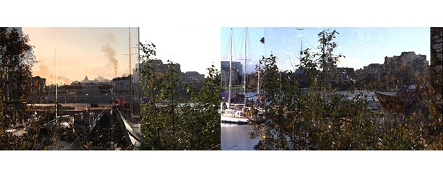 two simultaneous recordings of four simultaneous images