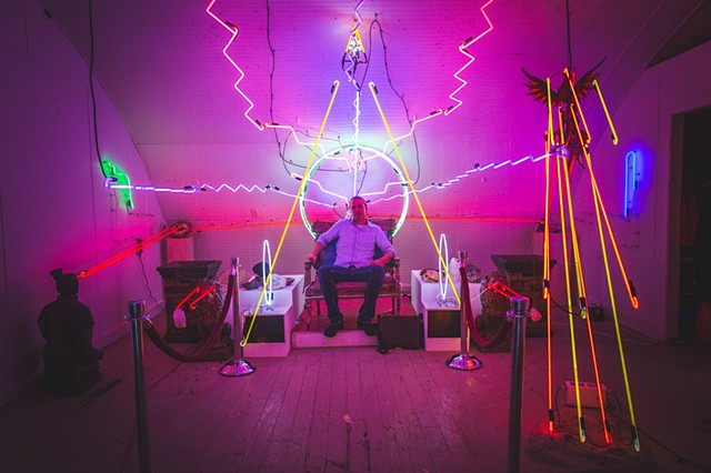 Neon #selfiethrone by Brian Bailey