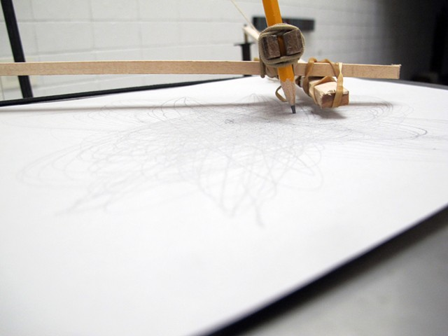 Pendulum Drawing Machine (detail)