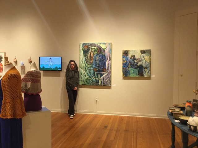 Paintings at the MGMA, January 2019.