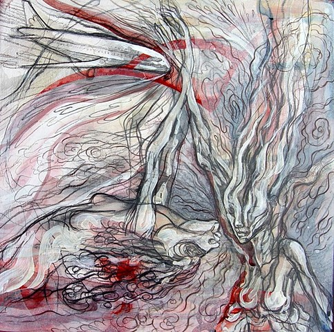 mixed-media painting by Julie McNiel