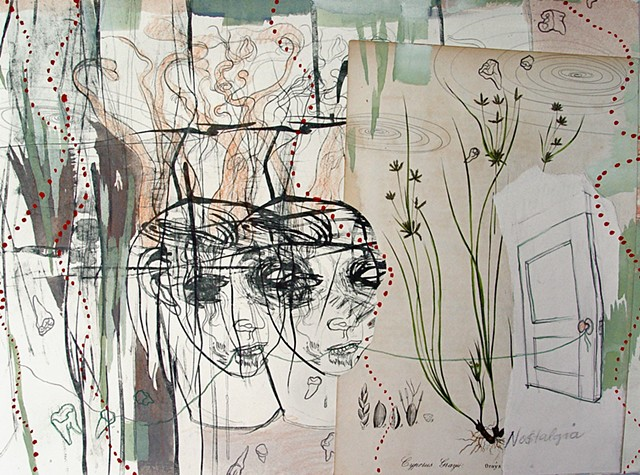 mixed-media drawing by Julie McNiel