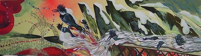 One of three panels, Winterworld triptych.