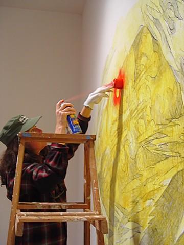 Julie paints the CAVE