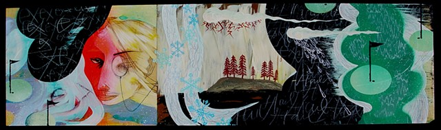 One of three panels, Winterworld triptych.