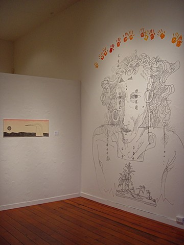 site-specific wall drawing by Julie McNiel