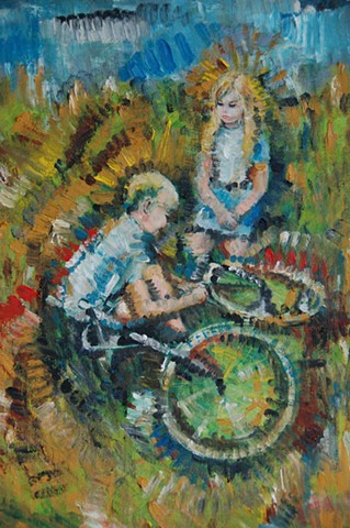 Boy, Girl and Bicycle