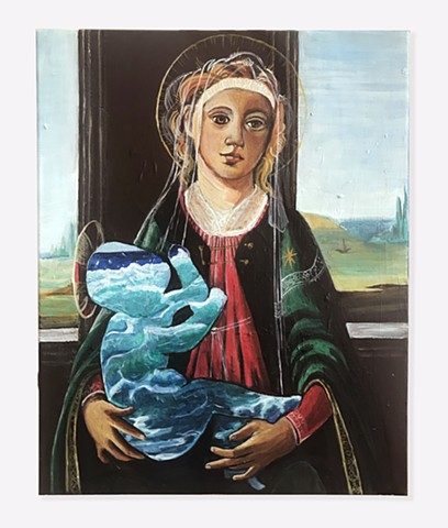Madonna of the Waves after Botticelli