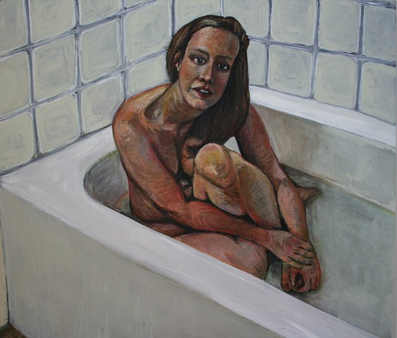 Self Portrait in Tub