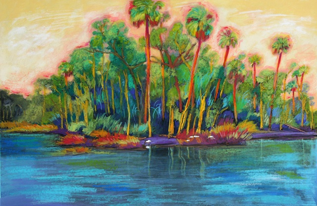 Palms on the river
