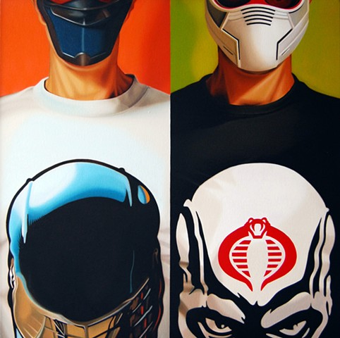 Self Portrait as Snake Eyes and Storm Shadow