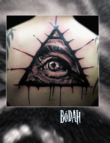 Best Tattoo Toledo Ohio, Ohio's Best Tattoo Artist, Toledo's Best Tattoo Artist, Toledo Ohio Tattoo, Amazing Tattoos, Amazing Tattoo, Best Realism Artist Bodah, Bodah Toledo Ohio Best Tattoo, All seeing eye tattoo, illuminati tattoo, third eye tattoo,  bo