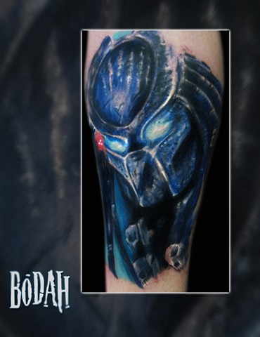 Best Tattoo Toledo Ohio, Ohio's Best Tattoo Artist, Toledo's Best Tattoo Artist, Toledo Ohio Tattoo, Amazing Tattoos, Amazing Tattoo, Best Realism Artist Bodah, Bodah Toledo Ohio Best Tattoo, predator tattoo, custom predator tattoo, freehand tattoo, avp t