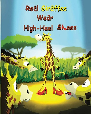 Real Giraffe wear High-Heel Shoes