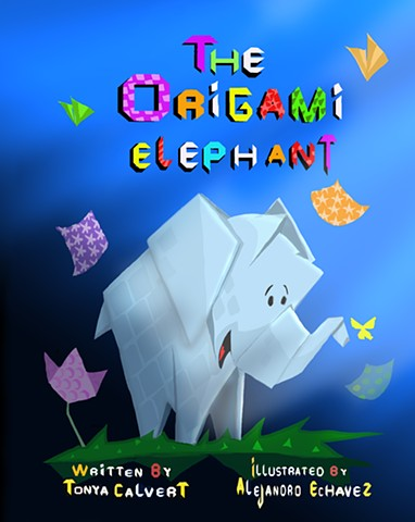 Elephant, Origami, paper, friendship,  children, animals, children, stories