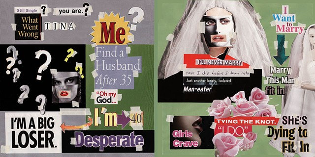 collage, advertising, media, feminist, artist book. graphics