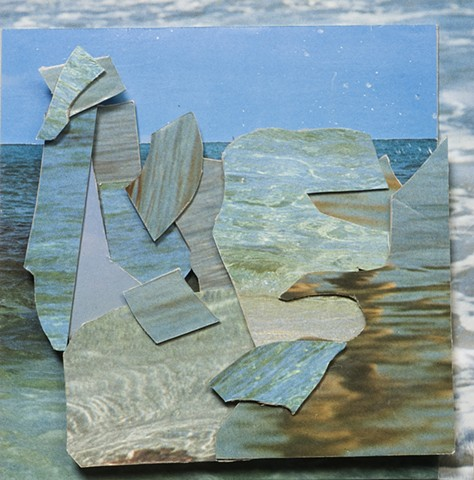 magazine collage, water, louise pappageorge