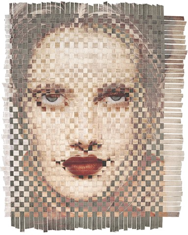 collage, woven, epson prints, feminist, louise pappageorge