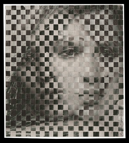 collage, woven, magazine, louise pappageorge