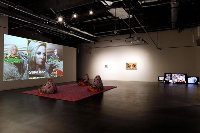 (004 Time is a Flat Circle 1:28 - 2:19) Who Do You Think You Are I Am installation view,