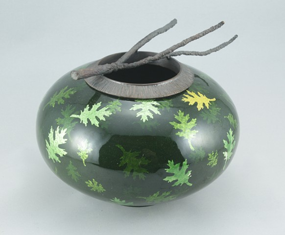 Oak Leaf & Branch Vessel