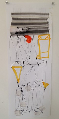 triangulated sculpture drawing #3