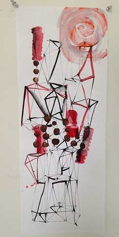 triangulated sculpture drawing #2