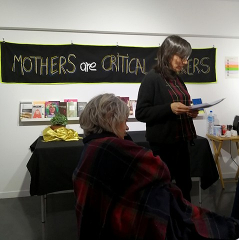 Photographer and embroiderer Tatiana Donoso reads her poems.