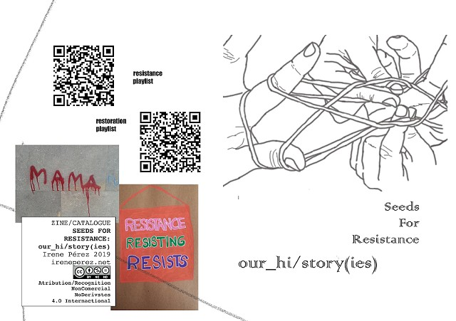 Catalogue Zine Seeds for Resistance: our_hi/story(ies)