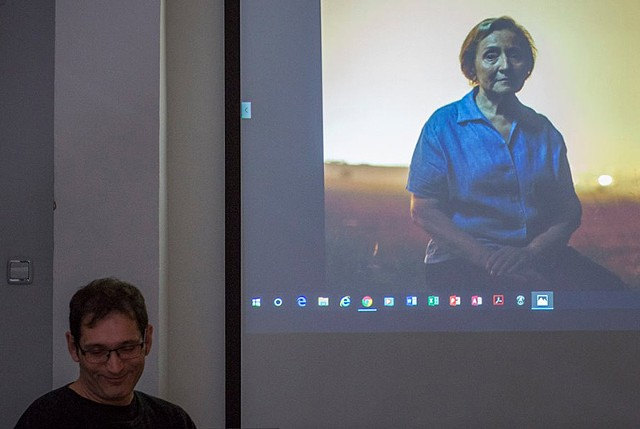 Miquel Llonch shows an image form his project: a protrait of his mother.