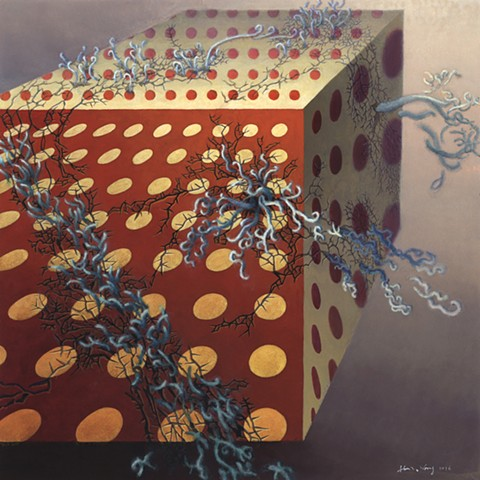 Surreal acrylic painting by John Z. Wang jwthearchistudio.com
