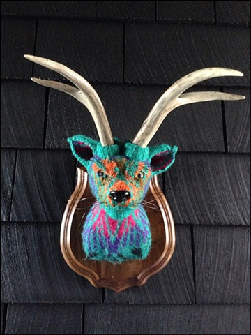 Sweaty Catalope Sweater Taxidermy antlers kitty 80's tribal lisa frank