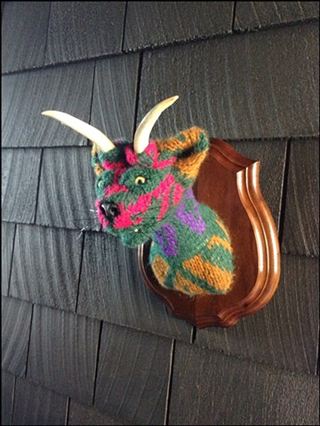 sweaty Catalope Sweater Taxidermy antlers kitty 80's cosby Lisa Frank