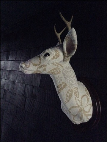 sweater faux deer stag antler taxidermy 80's ribbon flowers glitter sparkle ghost marie antoinette