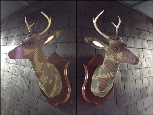 Sweater faux deer stag antler taxidermy camo camouflage