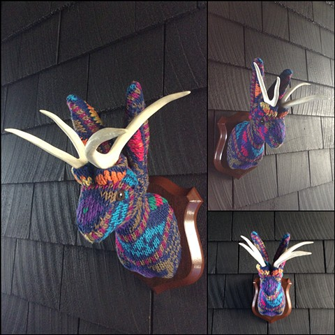 sweater faux taxidermy jackalope 80's ugly cosby