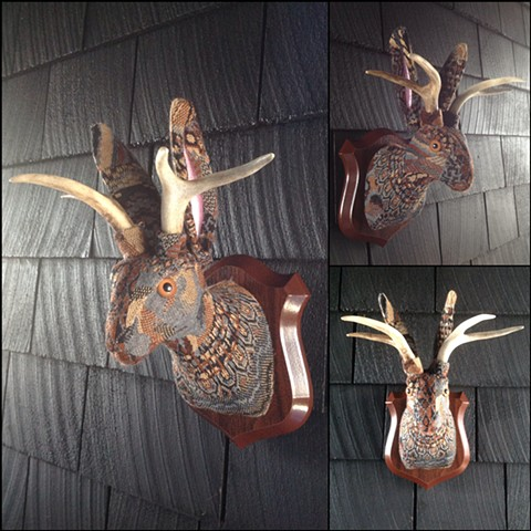 Sweaty Jackalope Faux Sweater Taxidermy 80's Cosby Paisly Prairie
