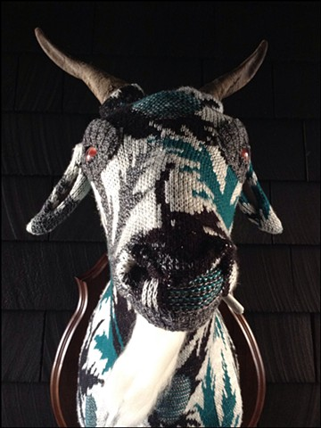 sweater faux deer goat billy gruff stoner marijuana joint weed taxidermy