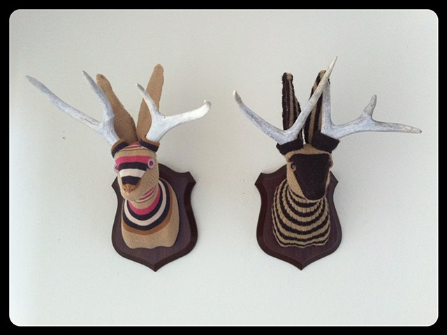 Photograph of Sweaty Jackalopes Faux Taxidermy (Striped Sweater)