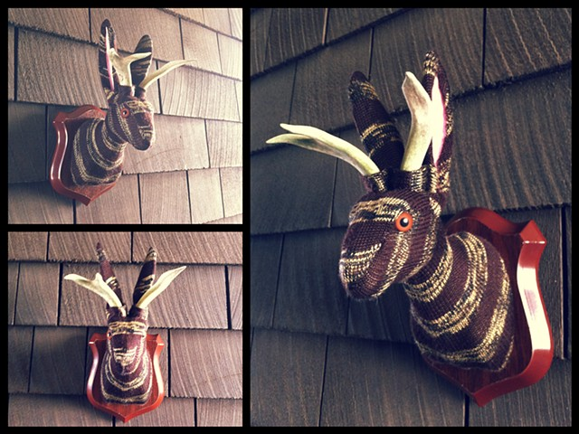 Photograph of Sweaty Jackalope Faux Taxidermy