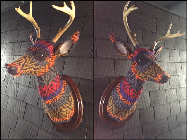 sweater faux deer stag antler taxidermy 80's benetton gothic lisa frank