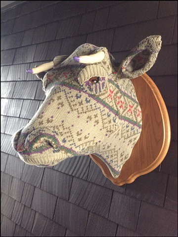 sweater faux cow floral taxidermy bertha
