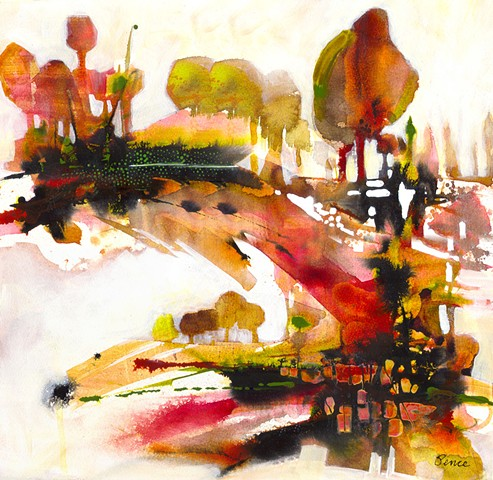 abstract landscape, imagined landscape