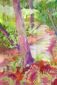 plein air painting, Gainesville FL, local site, watercolor painting