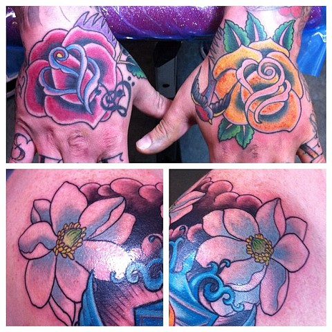 Hand Roses